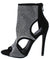 Ruby043 Black Cut Out Rhinestone Stiletto Boot