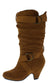 Pauline38 Tan Dual Buckle Knee High Kids Boot