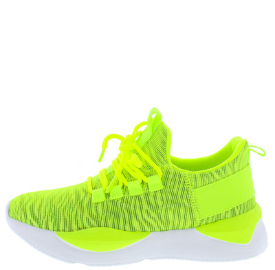 Peak8 Neon Yellow Women's Flat - Wholesale Fashion Shoes