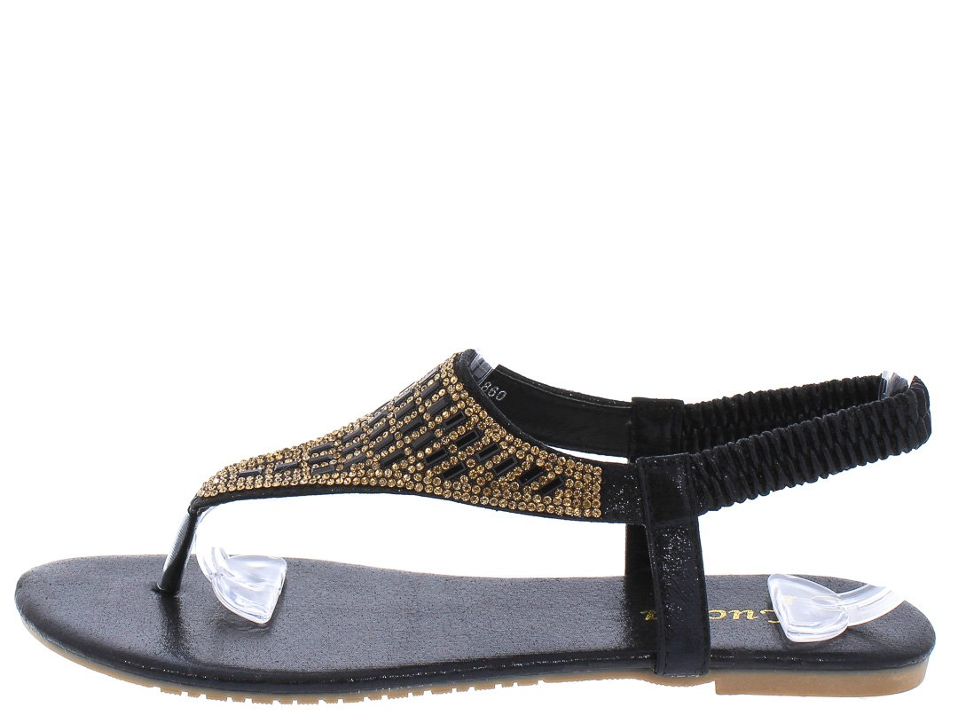 281328a44270 Pecko1860 Black Shimmer Rhinestone Slingback Thong Sandals Only  10.88 -  Wholesale Fashion Shoes