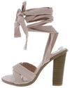 Peyton04 Nude Suede Women's Heel - Wholesale Fashion Shoes
