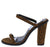 Peyton05 Camel Open Toe Tall Mule Block Heel