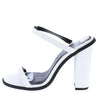 Peyton05 White Open Toe Tall Mule Block Heel - Wholesale Fashion Shoes