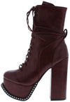 Emily175 Burgundy Women's Boot - Wholesale Fashion Shoes