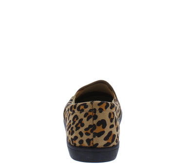 Pinster1 Cheetah Slide On Sneaker Loafer Flat - Wholesale Fashion Shoes