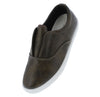 Pinster3 Grey Round Toe Sliced Front Slide On Sneaker Flat - Wholesale Fashion Shoes