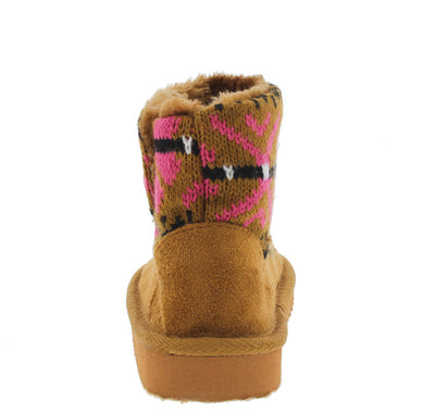 Polo7i Camel Infant Sweater Short Boot - Wholesale Fashion Shoes