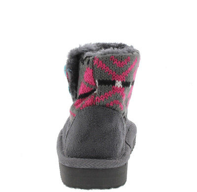 Polo7i Grey Infant Sweater Short Boot - Wholesale Fashion Shoes