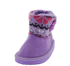 POLO7I PURPLE SWEATER SHORT INFANT BOOT - Wholesale Fashion Shoes - 2