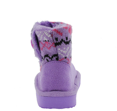 Polo7i Purple Sweater Short Infant Boot - Wholesale Fashion Shoes