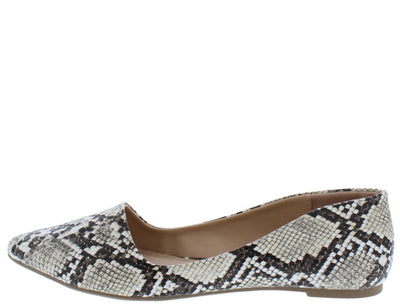 Ramona068 Snake Women's Flat - Wholesale Fashion Shoes