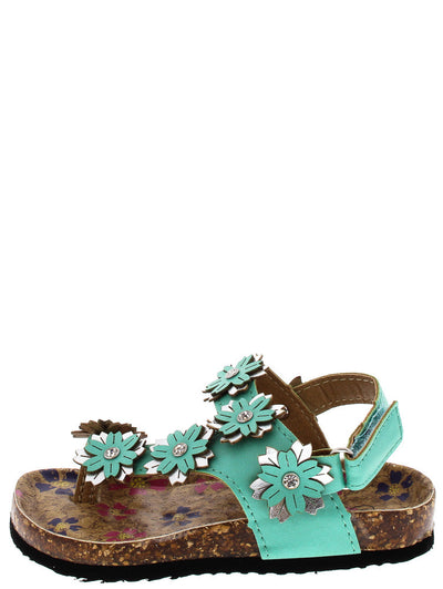 Poppy77ka Mint Flower Infant Sandal - Wholesale Fashion Shoes