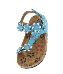 POPPY77K BLUE FLOWER KIDS SANDAL - Wholesale Fashion Shoes
