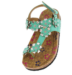 POPPY77K MINT FLOWER KIDS SANDAL - Wholesale Fashion Shoes