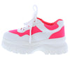 Pops12 Neon Pink Multi Women's Flat - Wholesale Fashion Shoes