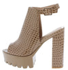 Porto1 Taupe Women's Heel - Wholesale Fashion Shoes