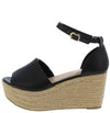 Prema01 Black Women's Wedge - Wholesale Fashion Shoes