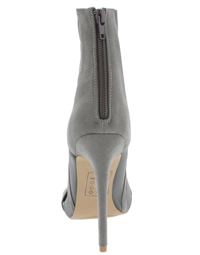 Prisma Grey Open Toe Dual Tone Stretch Heel - Wholesale Fashion Shoes