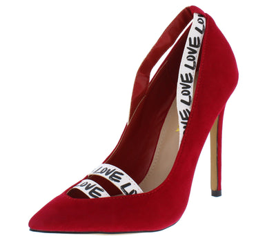 Project Red Multi Love Strap Pointed Toe Stiletto  Heel - Wholesale Fashion Shoes