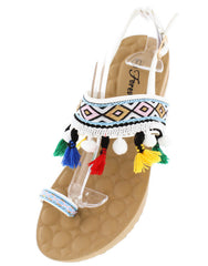 PUFF3 WHITE WOMEN'S SANDAL - Wholesale Fashion Shoes