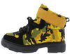Puzzle03 Yellow Women's Boot - Wholesale Fashion Shoes