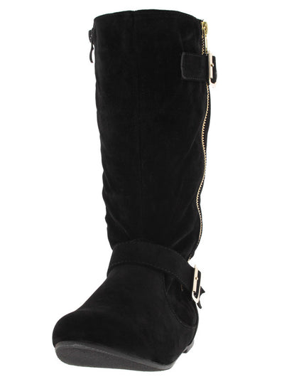 Qsmart106 Black Zipper Side Boot - Wholesale Fashion Shoes