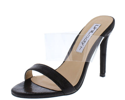 Quinn76 Black Woman's Heel - Wholesale Fashion Shoes