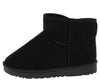 R001011 Black Sherpa Lug Sole Pull On Ankle Boot - Wholesale Fashion Shoes