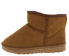 R001011 Camel Sherpa Lug Sole Pull On Ankle Boot - Wholesale Fashion Shoes