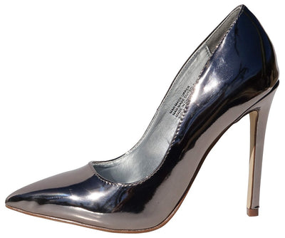 Levi263 Pewter Patent Pointed Toe Stiletto Heel - Wholesale Fashion Shoes