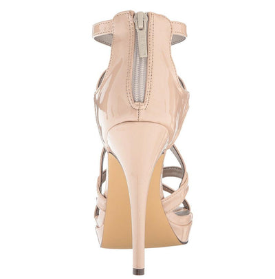 Arianna077 Nude Pat Pu Strappy Open Toe Stiletto Heel - Wholesale Fashion Shoes