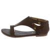 Roman1 Brown Women's Sandal - Wholesale Fashion Shoes