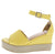 Christine236 Yellow Pu Women's Wedge