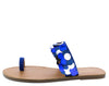 Raja Blue Toe Loop Open Toe Sequin Flat Slide Sandal - Wholesale Fashion Shoes