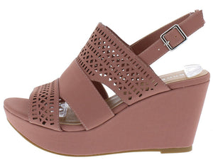 bd80daef17b0 Range30s Mauve Open Toe Cut Out Laser Cut Slingback Wedge - Wholesale  Fashion Shoes