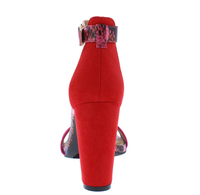 Rave08 Hot Pink Women's Heel - Wholesale Fashion Shoes