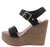 Rebeca01 Black Women's Wedge