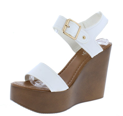 Rebeca01 White Women's Wedge - Wholesale Fashion Shoes
