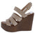 Rebeca02 Natural Strappy Open Toe Slingback Platform Wedge