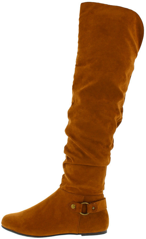 6d385ee71f Rebeca62 Chestnut Faux Suede Over the Knee Boot - Wholesale Fashion Shoes