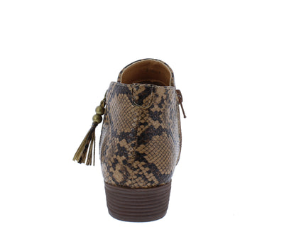 Recall4 Brown Snake Women's Boot - Wholesale Fashion Shoes