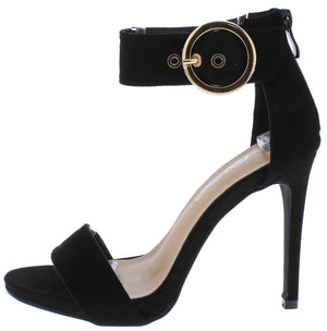 e66aeea249f Reddy8 Black Open Toe Ankle Strap Stiletto Heel - Wholesale Fashion Shoes