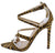Adele210 Tan Zebra Strappy Pointed Open Toe Stiletto Heel