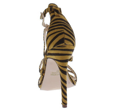 Adele210 Tan Zebra Women's Heel - Wholesale Fashion Shoes
