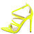 Adele210 Neon Yellow Strappy Pointed Open Toe Stiletto Heel
