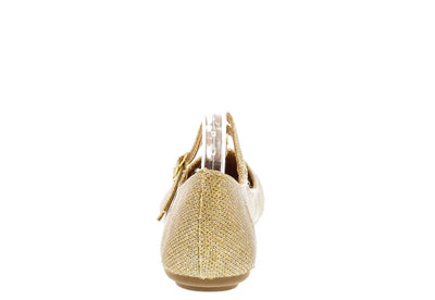 Reversal05a Gold Shimmer T-strap Flat - Wholesale Fashion Shoes