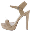Revolve Dark Nude Women's Heel - Wholesale Fashion Shoes