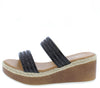Rich2 Black Women's Wedge - Wholesale Fashion Shoes