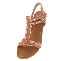 RICHARD1 FLOWER T-STRAP DAISY SANDAL - Wholesale Fashion Shoes