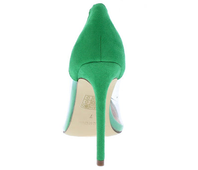Ricky11 Green Pointed Toe Lucite Stiletto Pump Heel - Wholesale Fashion Shoes